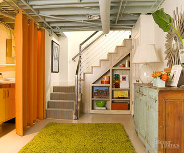 A Drab-to-Fun Basement Makeover