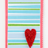 Striped Heart Card