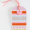 Striped Gift Tag