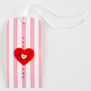 Button Heart Tag
