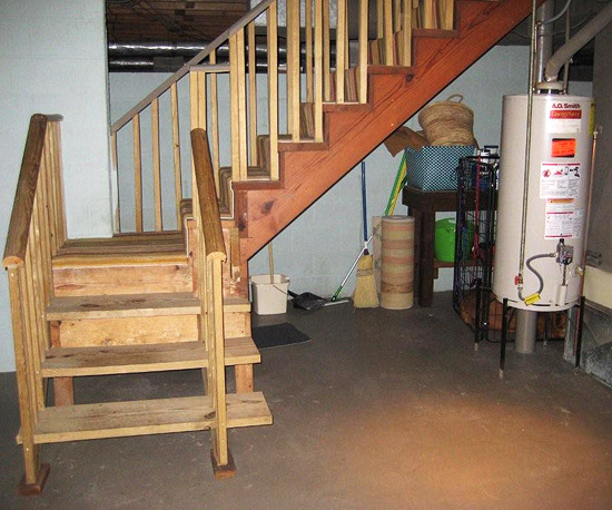 Before and After  Drab to Dapper Basement Makeover Wall Ideas