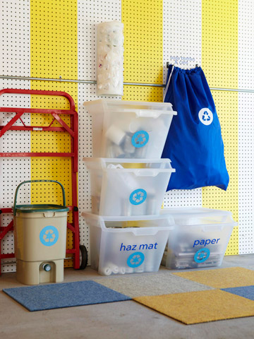 16 Ways to Organize Recycling