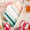 Valentine's Day Crafts Table Organization