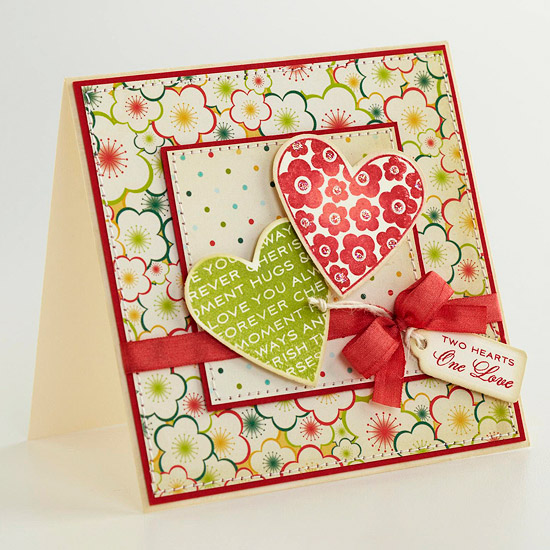 Two Hearts Card