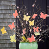 Pastel-Color Butterfly Tree Centerpiece