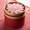 Small Gift Container with Stamped Flower Embellishment