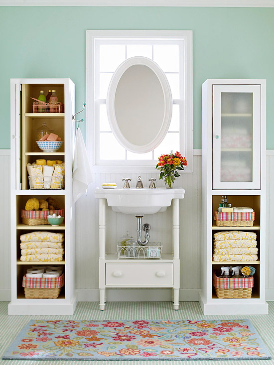 Bathroom storage ideas better homes and gardens Storage solutions for tiny bathrooms