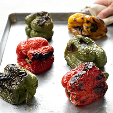 How to Roast Sweet Peppers