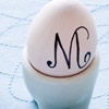 Monogrammed Egg Place Card