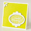 Green-and-White Easter Blessings Card