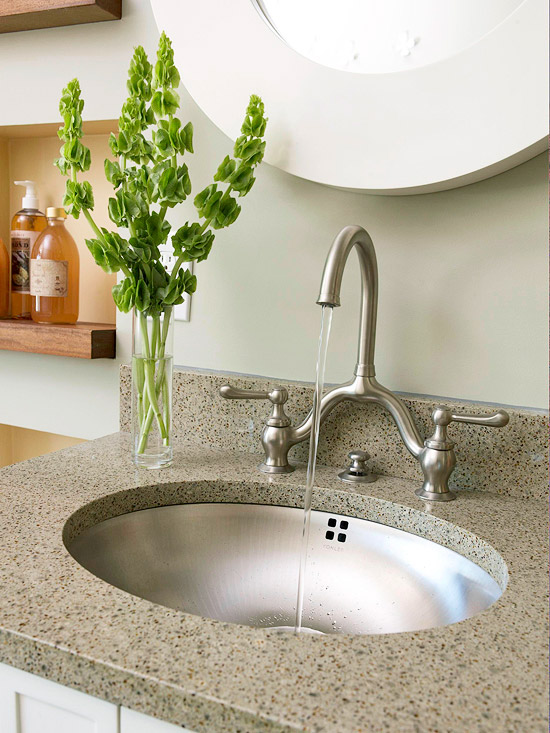 Vanity Countertop Options : Bathroom Vanity Countertop Ideas