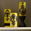 Damask Candles Mantel Decoration