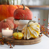 Elevated Pumpkin Centerpiece with Bittersweet