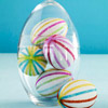 Glitter Striped Easter Eggs