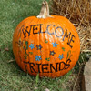 Floral Welcome Pumpkin