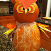 Stacked Owl Pumpkin