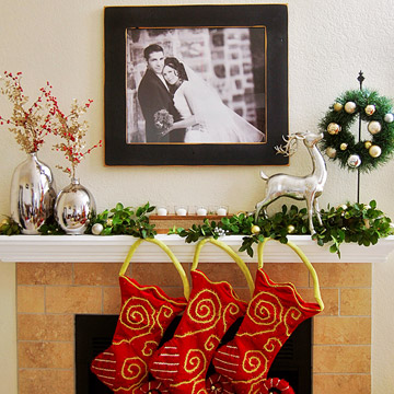 Iron Scrollwork Christmas Mantel photo 3429870-2