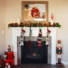 Red-and-Gold Christmas Mantel