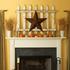 Barn Star Halloween Mantel