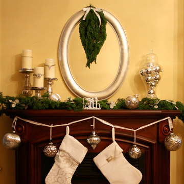 Iron Scrollwork Christmas Mantel photo 3429870-3