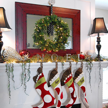 Vintage Christmas Mantel Create photo 3429867-5