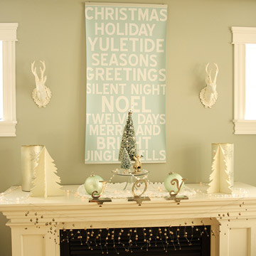Vintage Christmas Mantel Create photo 3429867-4