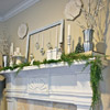 Metallic Christmas Mantel with Greenery