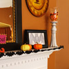 Bat-Theme Halloween Mantel