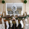 White-and-Silver Christmas Mantel
