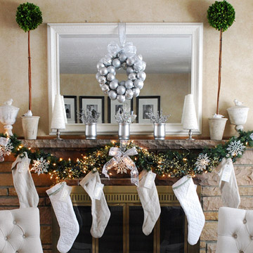Vintage Christmas Mantel Create photo 3429867-2