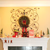 Iron Scrollwork Christmas Mantel