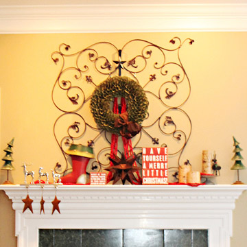 Iron Scrollwork Christmas Mantel photo 3429870-1