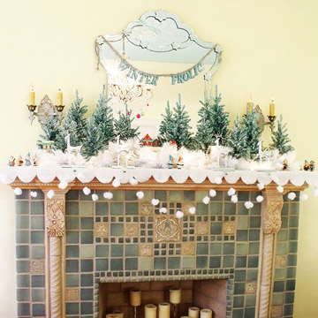 Vintage Christmas Mantel Create photo 3429867-1