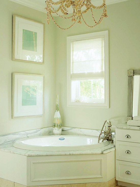Corner tub bathroom design ideas