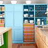 Colorful Charm Salvaged Cabinets