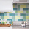 Glass Block Backsplash