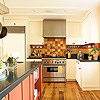 Kitchen with Autumnal Color Palette