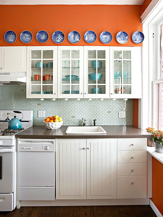 Burnt Orange Kitchen Cabinets warm kitchen color schemes