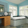 Contemporary Blue Bath