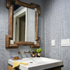 Blue-and-Brown Powder Room