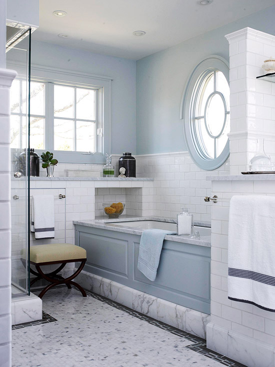 Pale Blue Bathroom