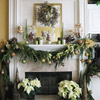 Evergreen and Poinsettias Christmas Decor