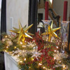 Starry Christmas Mantel