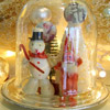 Faux Snow Globe Christmas Decor