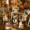 Santa Photos Mantel Display