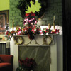 Christmas Mantel with Wreath