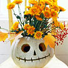 Floral Jack-o'-Lantern Halloween Centerpiece