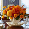 Orange Flowers Centerpiece