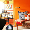 Midcentury Color Scheme: Orange + Red + Black