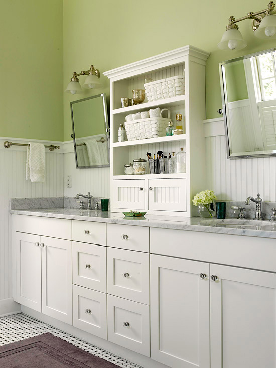 Green bathroom design ideas for Bathroom decor green walls